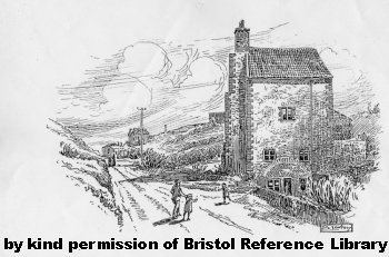 Loxton's drawing of the engine house in Troopers Hill Rd circ 1914